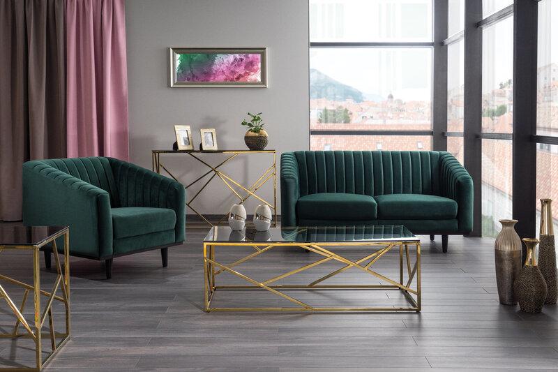 Dīvāns Asprey 2, zaļš