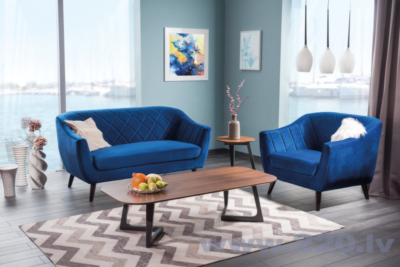 Dīvāns Molly 2, zils