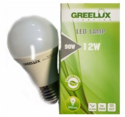 LED spuldze A60 12W E27 4000K 220-240V Greelux