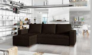 Universāls stūra dīvāns Newark, tumši brūns cena un informācija | Stūra dīvāni | 220.lv