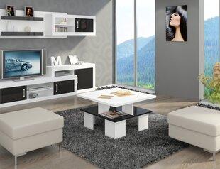 Кофейный столик Supra, белый/черный цена и информация | Кофейные столики | 220.lv