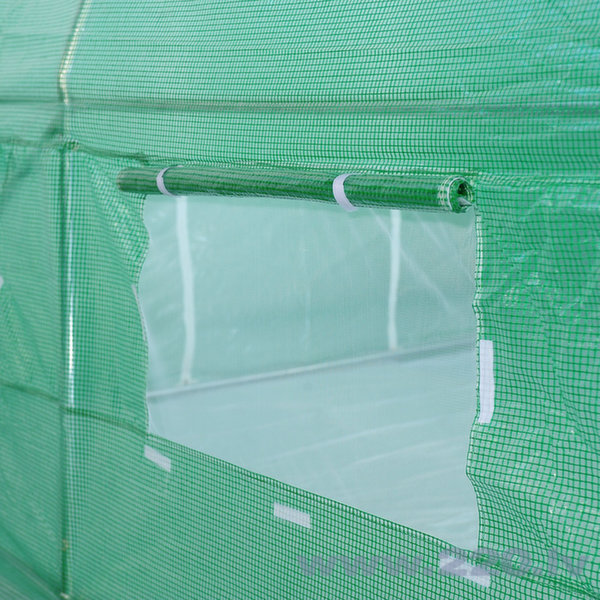 Siltumnīca zaļa ar logiem 10 m2 atsauksme