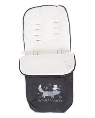 Konverts-guļammaiss Kikkaboo Footmuff Polar Fox, melns