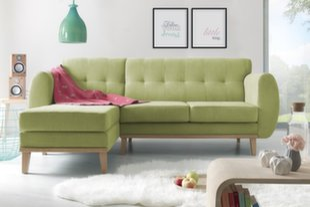 Mīksts stūra dīvāns BoboChic Viking, zaļš cena un informācija | Stūra dīvāni | 220.lv