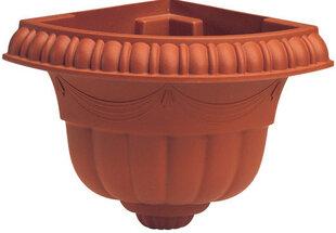 Угловой настенный вазон Marchioro Emar 21, коричневый цена и информация | Ящики для рассады | 220.lv