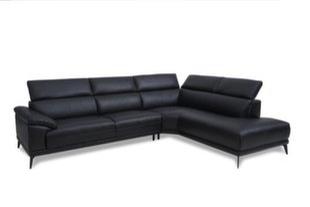 Mīksts stūra dīvāns San Diego, melns