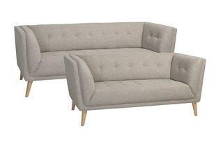 Dīvāns Palermo 3, krēmkrāsas цена и информация | Диваны и кресла | 220.lv