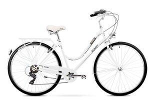 Sieviešu pilsētas velosipēds Romet Vintage D 2019, balts