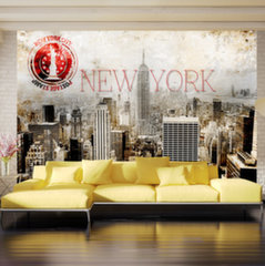 Foto tapete - New York - POST AGE STAMP