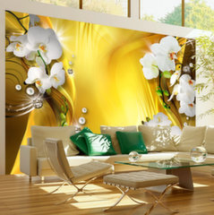 Foto tapete - Orchid in Gold