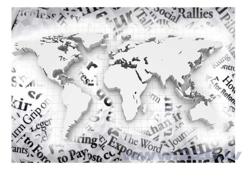 Foto tapete - The world of newspapers atsauksme