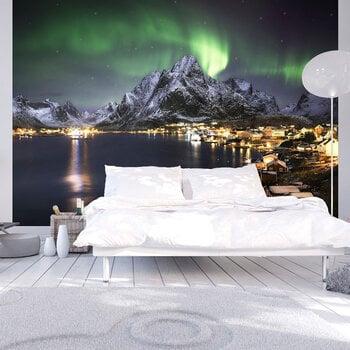 Foto tapete - Aurora borealis cena un informācija | Fototapetes | 220.lv