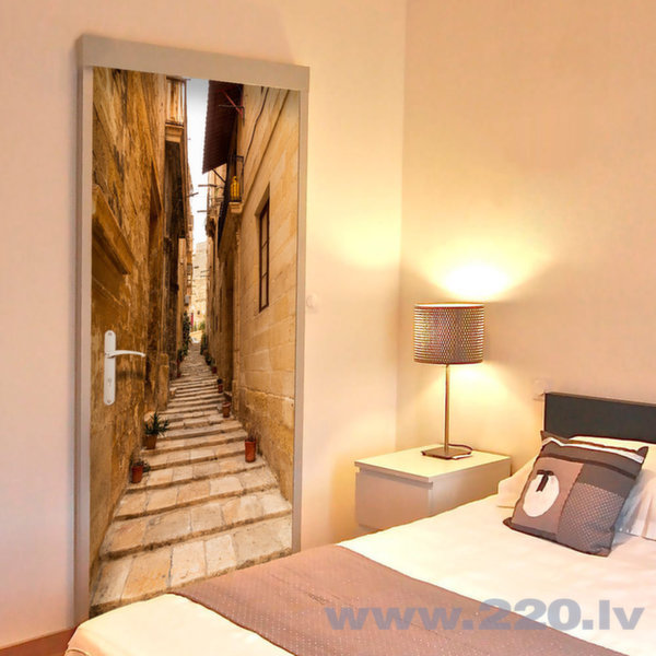 Foto tapete durvīm - Photo wallpaper – Narrow alley I