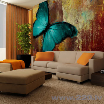 Foto tapete - Painted butterfly cena un informācija   Fototapetes   220.lv