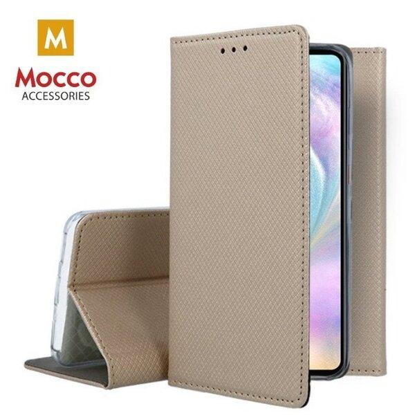 Mocco Smart Magnet Book, piemērots Huawei P30 Pro, zeltains