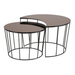 2-u kafijas galdiņu komplekts Sunmoon, brūns