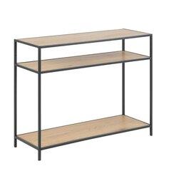 Konsole Seaford, ozola/melnas krāsas cena un informācija | Konsoles galdiņi | 220.lv