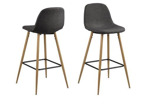 Комплект из 2-х барных стульев Wilma Sawana, серый/дуб
