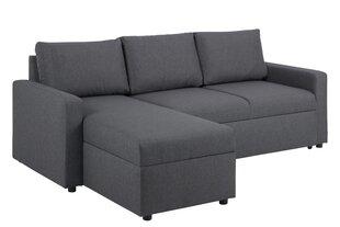 Mīkstais stūra dīvāns Sacramento, tumši pelēks