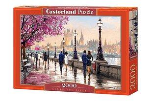 Castorland puzle Along the River, 2000 detaļu cena un informācija | Puzles, 3D puzles | 220.lv