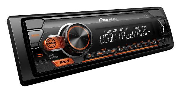 Pioneer, MVH-S110UI RDS magnetola ar USB