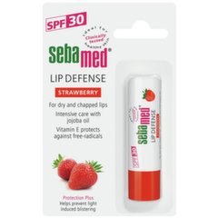 Lūpu balzams ar zemenēm Sebamed Sensitive Skin Lip Defense SPF30 4.8 g