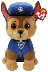 Plīša rotaļlieta TY Paw Patrol CHASE Suns, 15 cm, 41208 cena un informācija | Mīkstās (plīša) rotaļlietas | 220.lv