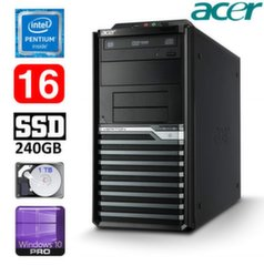Acer Veriton M4620G MT G645 16GB 240GB+1TB DVD WIN10Pro