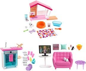 Lelles Barbie mēbeļu komplekts cena un informācija | Lelles Barbie mēbeļu komplekts | 220.lv