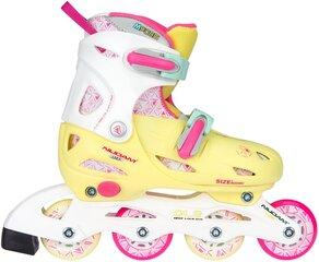 Skrituļslidas Nijdam Children's Inline Girl, rozā/dzeltenas cena un informācija | Skrituļslidas | 220.lv