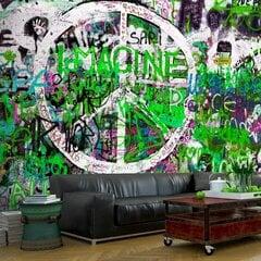 Fototapetes - Zaļais grafiti cena un informācija | Fototapetes | 220.lv