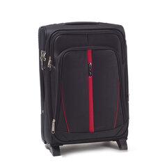 Mazs, 2 riteņu čemodāns Wings Buzzard, melns cena un informācija | Koferi, ceļojumu somas | 220.lv
