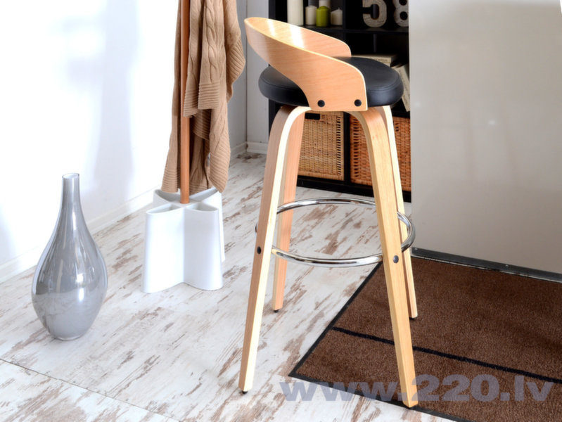 Барный стул Hoker 38, цвет дуба/черный