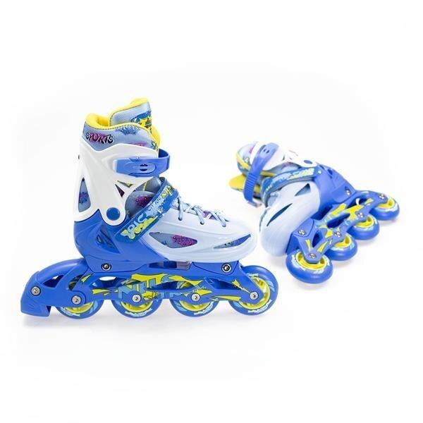 Роликовые коньки регулируемого размера Nils Extreme NJ1905, синие