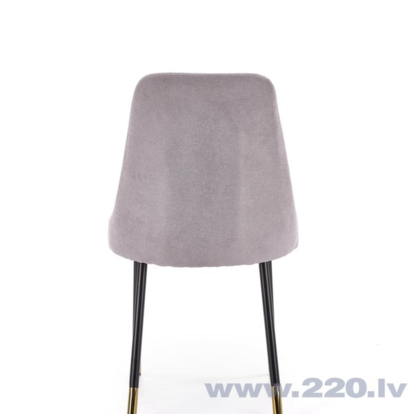 Комплект из 4-х стульев Halmar K318, серый / черный