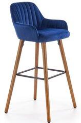 Bāra krēsls H93, zila / ozola krāsa cena un informācija | Virtuves un ēdamistabas krēsli | 220.lv