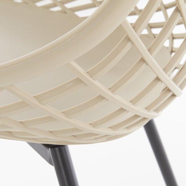 Комплект из 4-х стульев Halmar K330, песочного/черного цвета