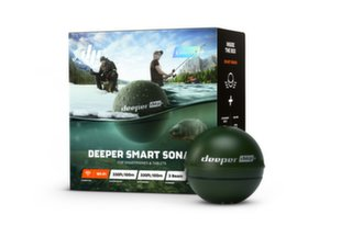 Сонар Deeper Smart Sonar CHIRP+ с Wi-Fi и GPS, с 3 лучами