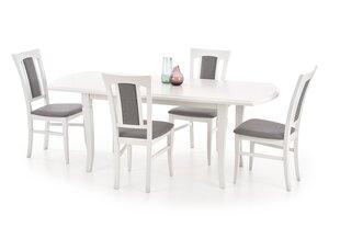 Galds Fryderyk 160-240, balts cena un informācija | Virtuves un pusdienu galdi | 220.lv