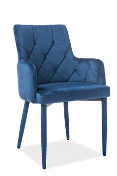 4-u krēslu komplekts Ricardo Velvet, zils
