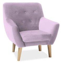 Krēsls Nordic 1 Velvet, rozā