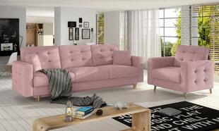 Mīksto mēbeļu komplekts Asgard 3+1, rozā