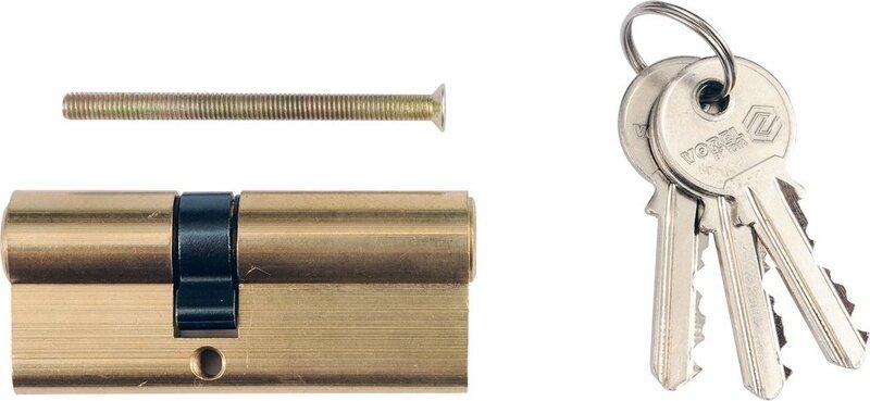 Slēdzenes serdene 72mm, L31/41mm, ar 3 atslēgām, misiņa Vorel 77203