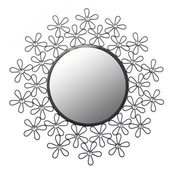 Dekoratīvs spogulis Crystal 02, melns