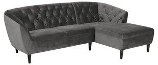 Stūra dīvāns Ria, pelēks cena un informācija | Stūra dīvāni | 220.lv