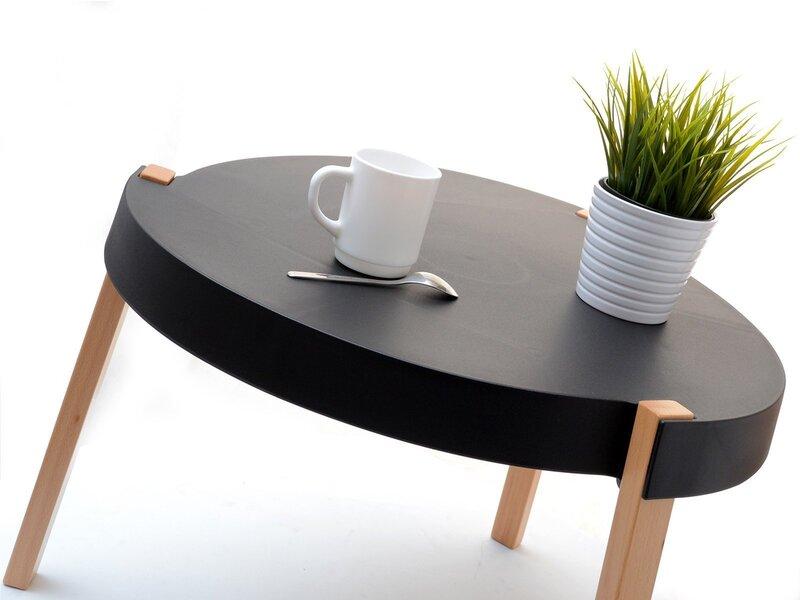 Кофейный столик Twist, черный