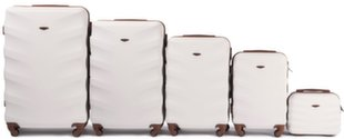 5 koferu komplekts Wings 402-5, gaiši pelēks