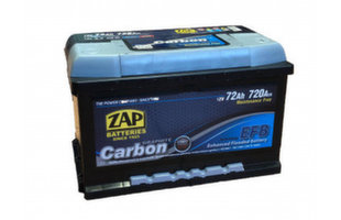 ZAP Carbon EFB 75Ah 720A akumulators