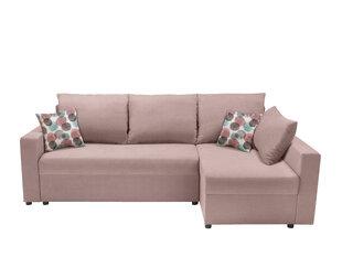 Universālās stūra dīvāns Przemek, rozā