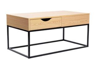 Kafijas galdiņš Malmi, ozola/melnas krāsas